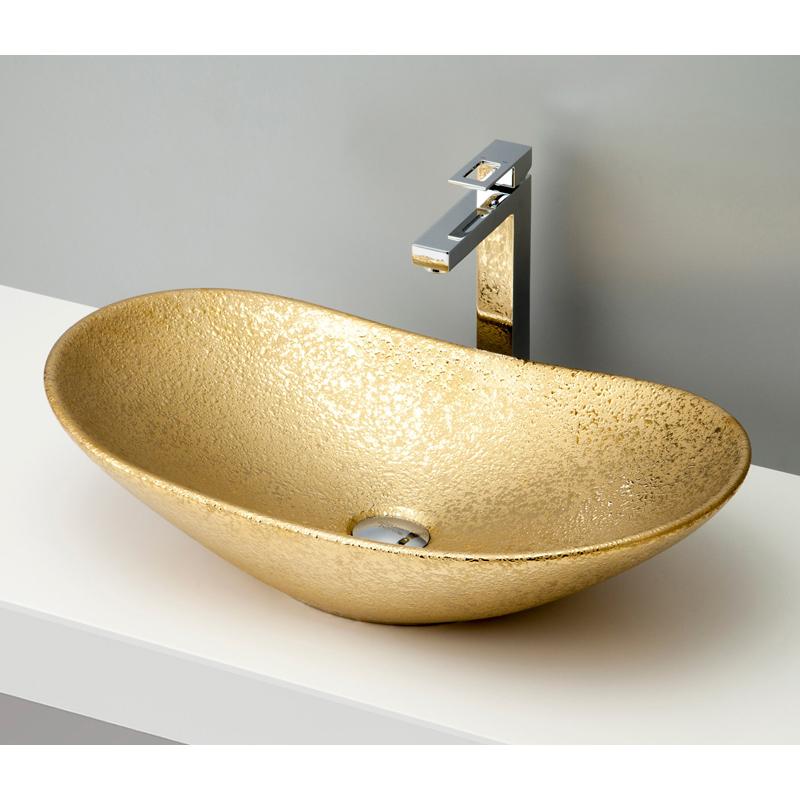 mizunohana 置き型洗面ボウル METALLIC メタリック05 B111 手洗い器 デザイン 陶磁器 ガラス インテリア 水まわり おしゃれ かわいい シンプル モダン カラフル