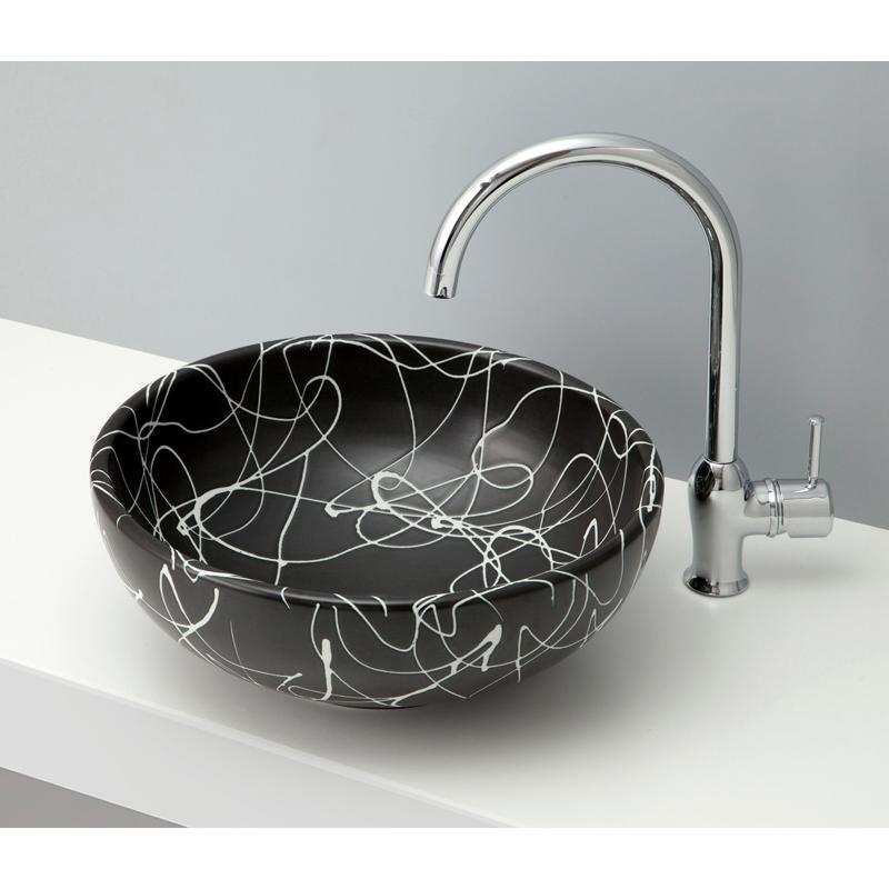 mizunohana 置き型洗面ボウル WA 和04 B095 手洗い器 デザイン 陶磁器 ガラス インテリア 水まわり おしゃれ かわいい シンプル モダン カラフル