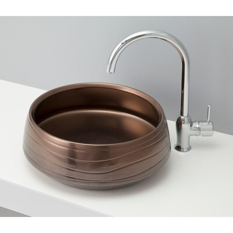 mizunohana 置き型洗面ボウル WA 和06 B097 手洗い器 デザイン 陶磁器 ガラス インテリア 水まわり おしゃれ かわいい シンプル モダン カラフル
