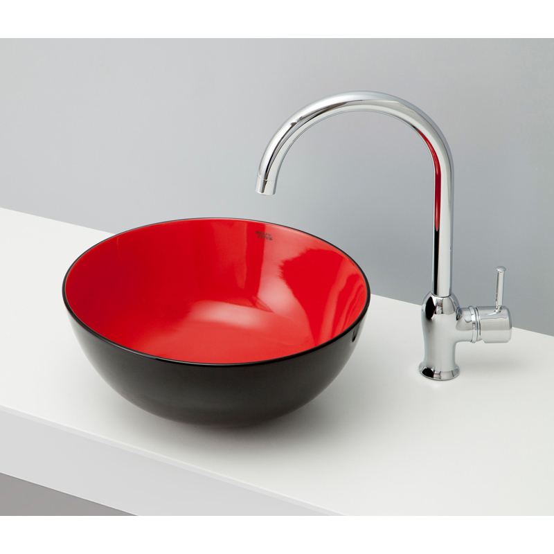 mizunohana 置き型洗面ボウル WA 和09 B106 手洗い器 デザイン 陶磁器 ガラス インテリア 水まわり おしゃれ かわいい シンプル モダン カラフル