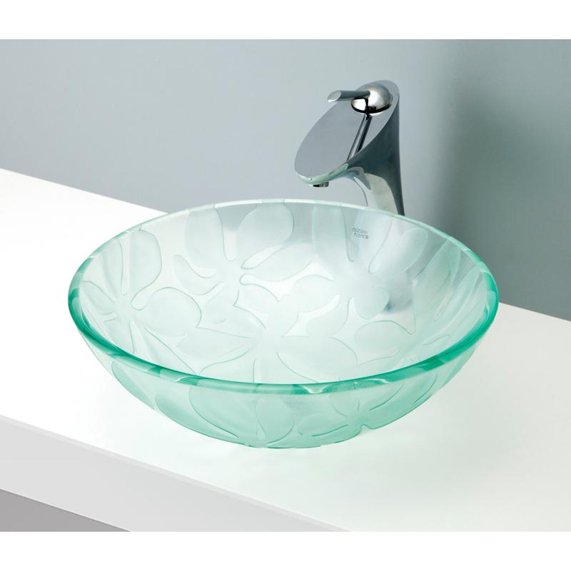 mizunohana 置き型洗面ボウル CLEAR GLASS クリアガラス02 B120 手洗い器 デザイン 陶磁器 ガラス インテリア おしゃれ かわいい シンプル モダン カラフル