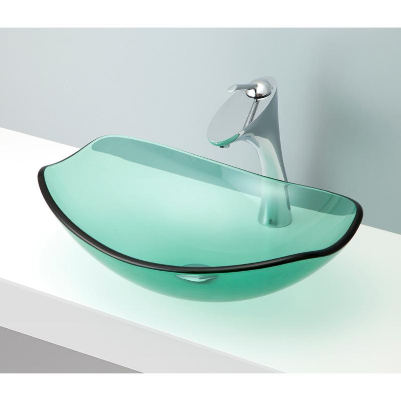 mizunohana 置き型洗面ボウル CLEAR GLASS クリアガラス07 B125 手洗い器 デザイン 陶磁器 ガラス インテリア おしゃれ かわいい シンプル モダン カラフル