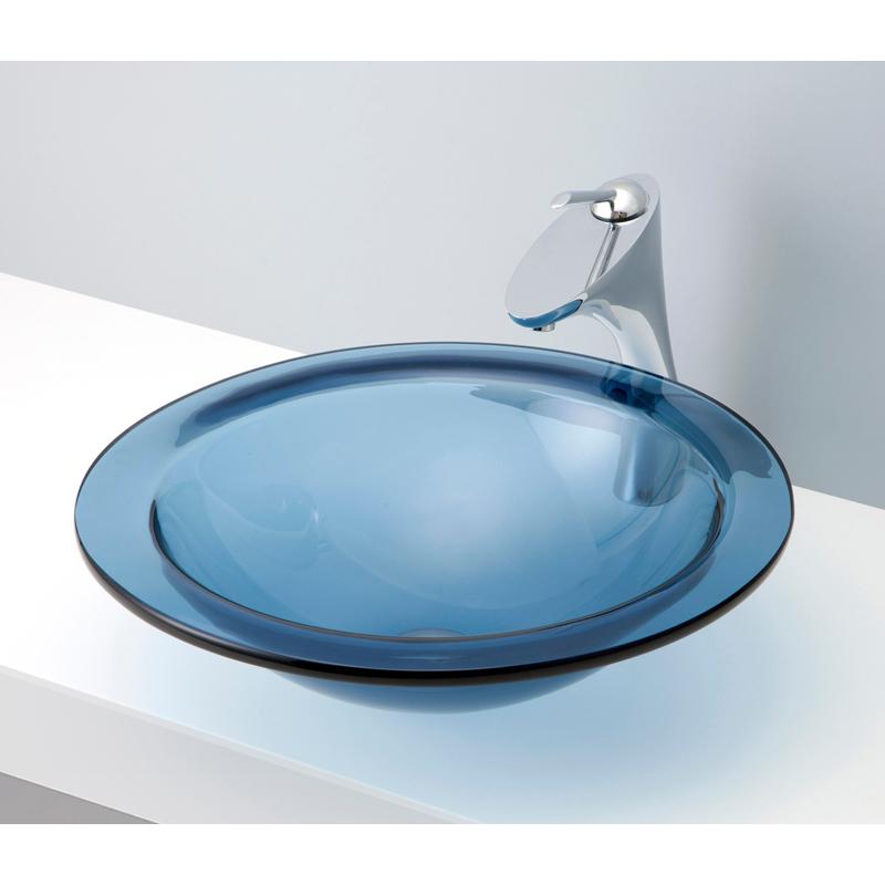 mizunohana 置き型洗面ボウル CLEAR GLASS クリアガラス09 B127 手洗い器 デザイン 陶磁器 ガラス インテリア おしゃれ かわいい シンプル モダン カラフル