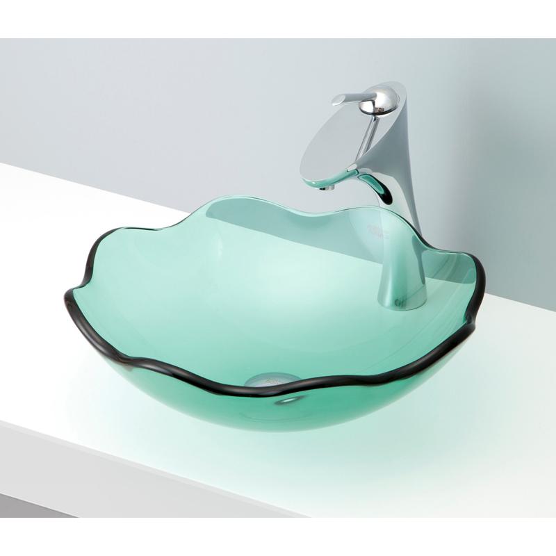 mizunohana 置き型洗面ボウル CLEAR GLASS クリアガラス10 B128 手洗い器 デザイン 陶磁器 ガラス インテリア おしゃれ かわいい シンプル モダン カラフル