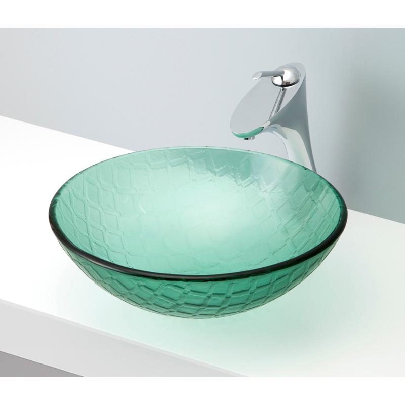mizunohana 置き型洗面ボウル CLEAR GLASS クリアガラス12 B130 手洗い器 デザイン 陶磁器 ガラス インテリア おしゃれ かわいい シンプル モダン カラフル