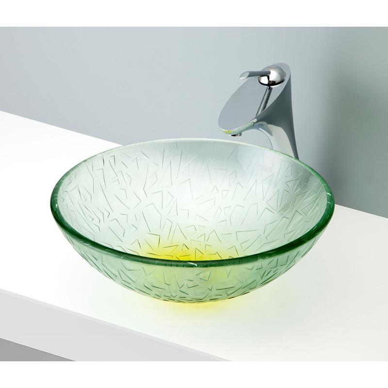 mizunohana 置き型洗面ボウル CLEAR GLASS クリアガラス13 B131 手洗い器 デザイン 陶磁器 ガラス インテリア おしゃれ かわいい シンプル モダン カラフル