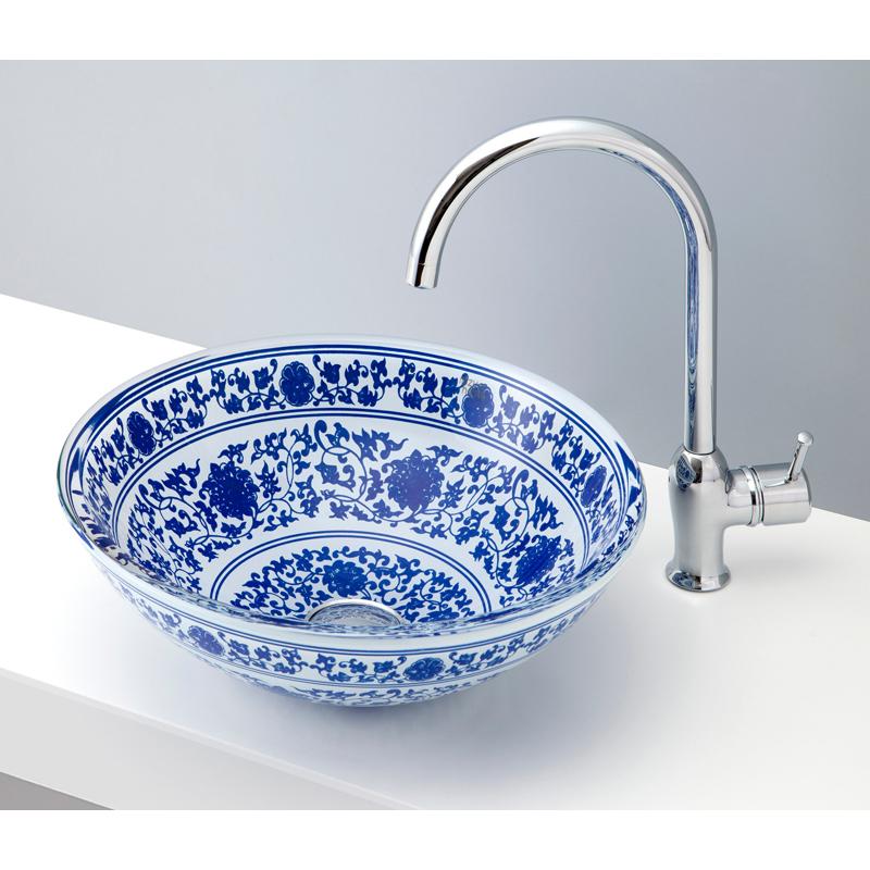 mizunohana 置き型洗面ボウル COLOR GLASS カラーガラス03 B142 手洗い器 デザイン 陶磁器 ガラス インテリア おしゃれ かわいい シンプル モダン カラフル