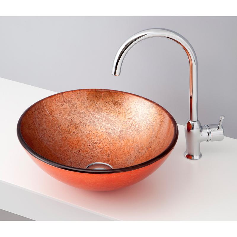 mizunohana 置き型洗面ボウル COLOR GLASS カラーガラス04 B144 手洗い器 デザイン 陶磁器 ガラス インテリア おしゃれ かわいい シンプル モダン カラフル