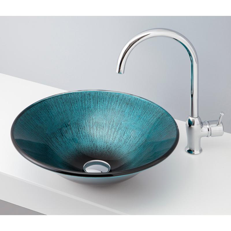 mizunohana 置き型洗面ボウル COLOR GLASS カラーガラス07 B155 手洗い器 デザイン 陶磁器 ガラス インテリア おしゃれ かわいい シンプル モダン カラフル