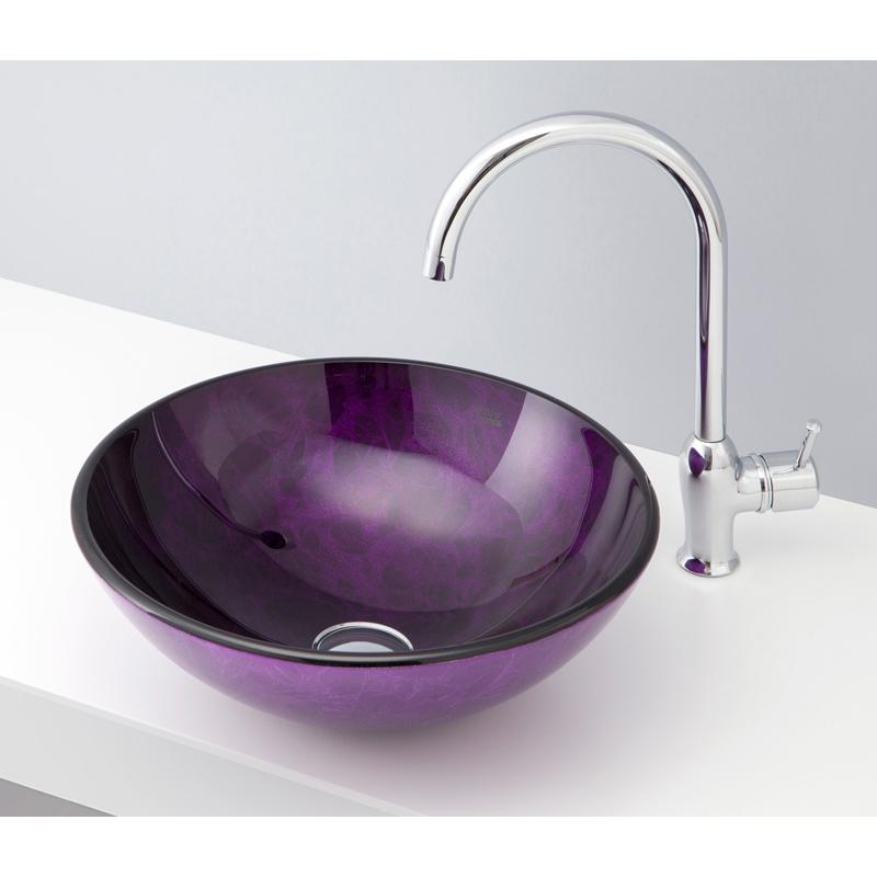 mizunohana 置き型洗面ボウル COLOR GLASS カラーガラス12 B170 手洗い器 デザイン 陶磁器 ガラス インテリア おしゃれ かわいい シンプル モダン カラフル