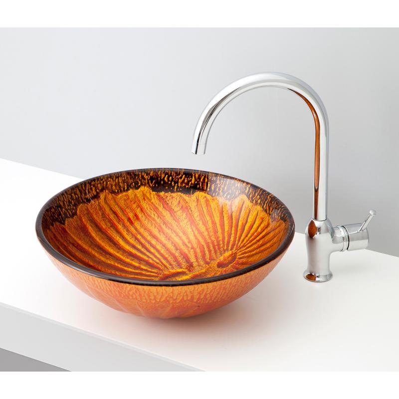 mizunohana 置き型洗面ボウル GRADATION GLASS グラデーションガラス02 B138 手洗い器 デザイン 陶磁器 インテリア おしゃれ かわいい シンプル モダン カラフル