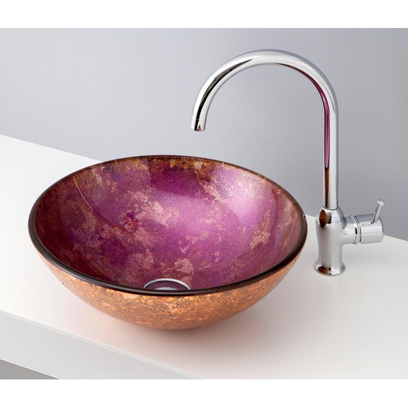 mizunohana 置き型洗面ボウル GRADATION GLASS グラデーションガラス05 B145 手洗い器 デザイン 陶磁器 インテリア おしゃれ かわいい シンプル モダン カラフル