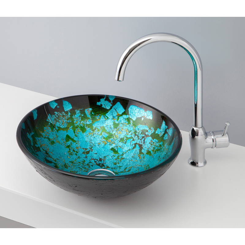 mizunohana 置き型洗面ボウル GRADATION GLASS グラデーションガラス06 B146 手洗い器 デザイン 陶磁器 インテリア おしゃれ かわいい シンプル モダン カラフル