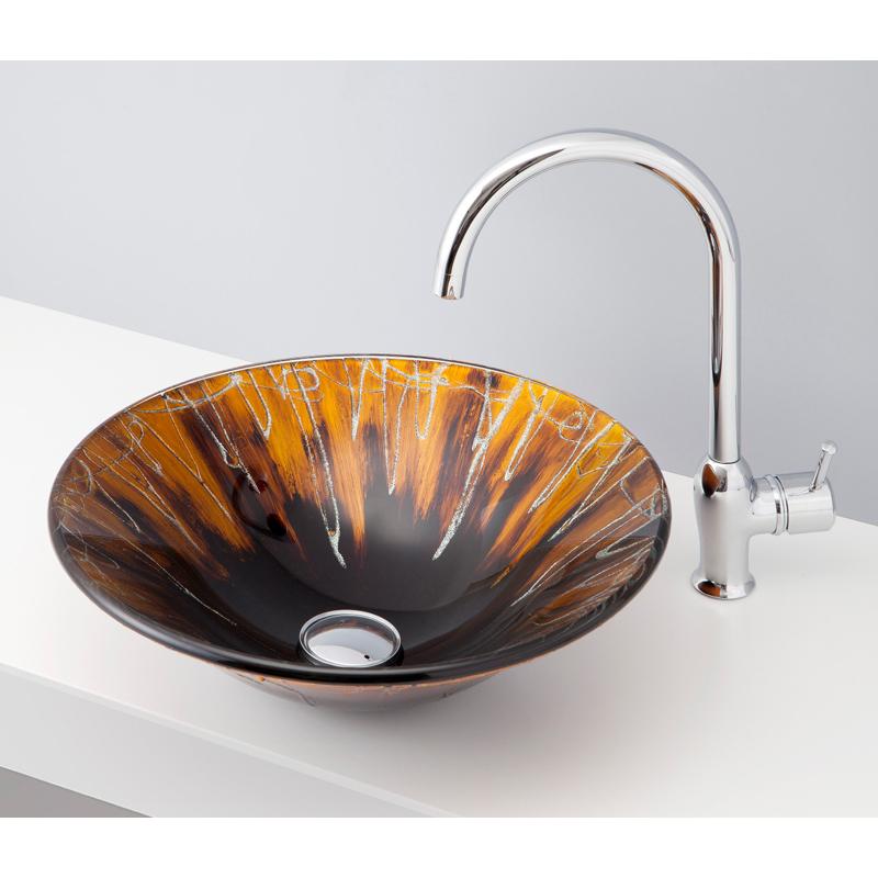 mizunohana 置き型洗面ボウル GRADATION GLASS グラデーションガラス07 B151 手洗い器 デザイン 陶磁器 インテリア おしゃれ かわいい シンプル モダン カラフル