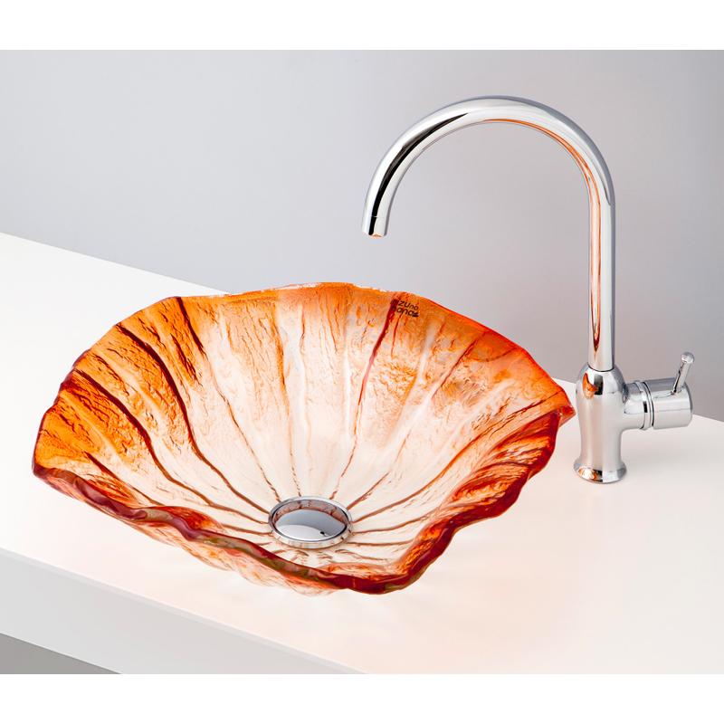 mizunohana 置き型洗面ボウル GRADATION GLASS グラデーションガラス11 B159 手洗い器 デザイン 陶磁器 インテリア おしゃれ かわいい シンプル モダン カラフル