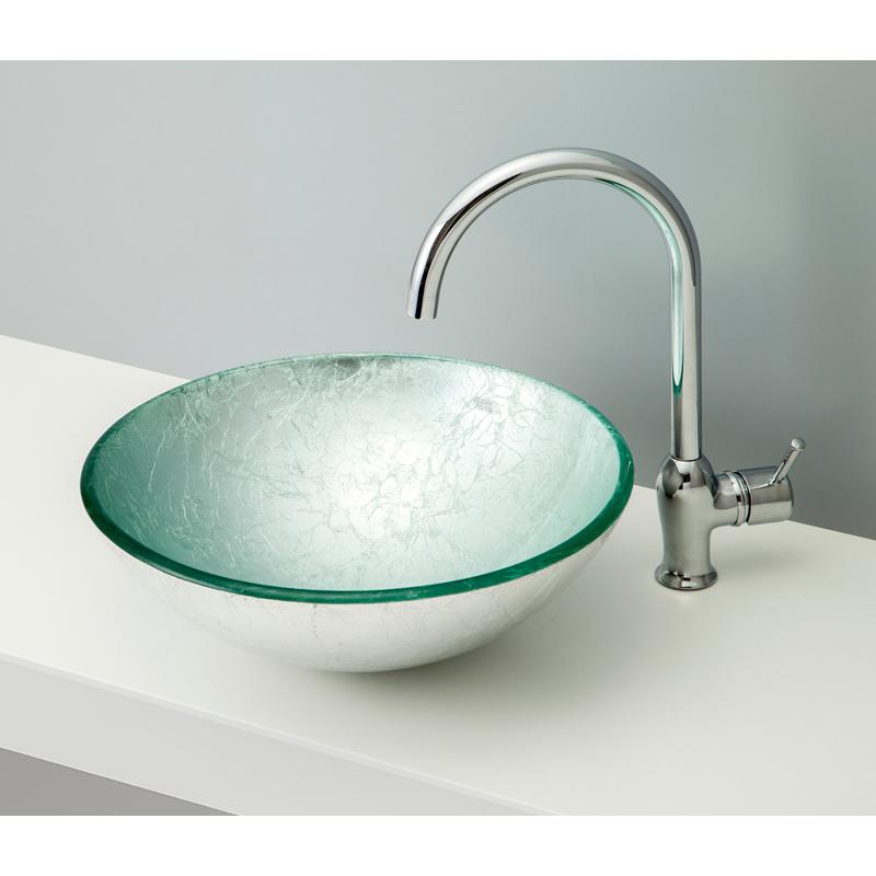 mizunohana 置き型洗面ボウル METALLIC GLASS メタリックガラス01 B133 手洗い器 デザイン 陶磁器 インテリア おしゃれ かわいい シンプル モダン カラフル