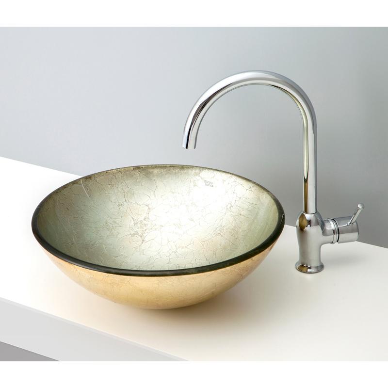 mizunohana 置き型洗面ボウル METALLIC GLASS メタリックガラス03 B136 手洗い器 デザイン 陶磁器 インテリア おしゃれ かわいい シンプル モダン カラフル