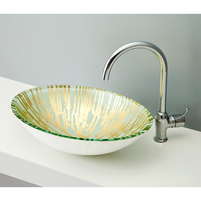 mizunohana 置き型洗面ボウル METALLIC GLASS メタリックガラス04 B140 手洗い器 デザイン 陶磁器 インテリア おしゃれ かわいい シンプル モダン カラフル