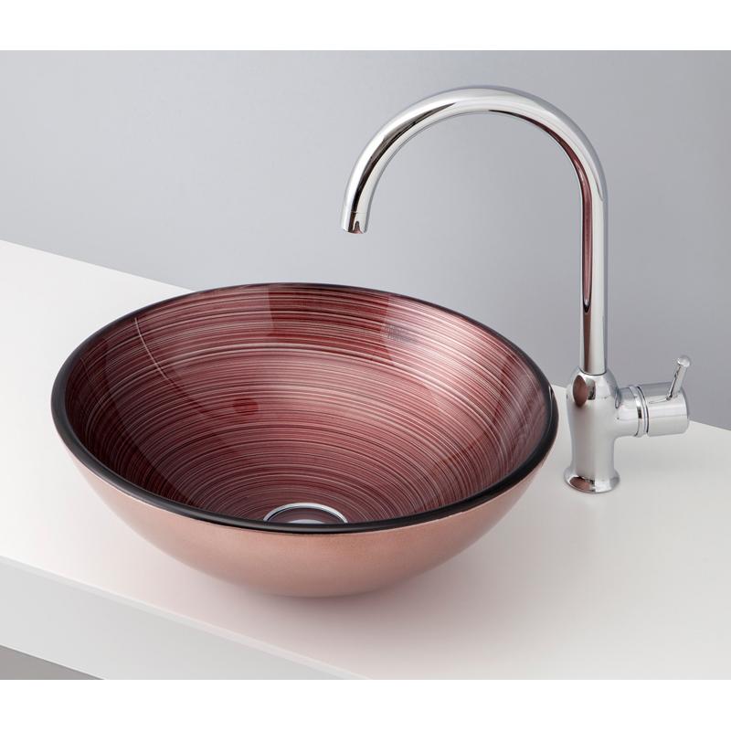 mizunohana 置き型洗面ボウル METALLIC GLASS メタリックガラス05 B147 手洗い器 デザイン 陶磁器 インテリア おしゃれ かわいい シンプル モダン カラフル