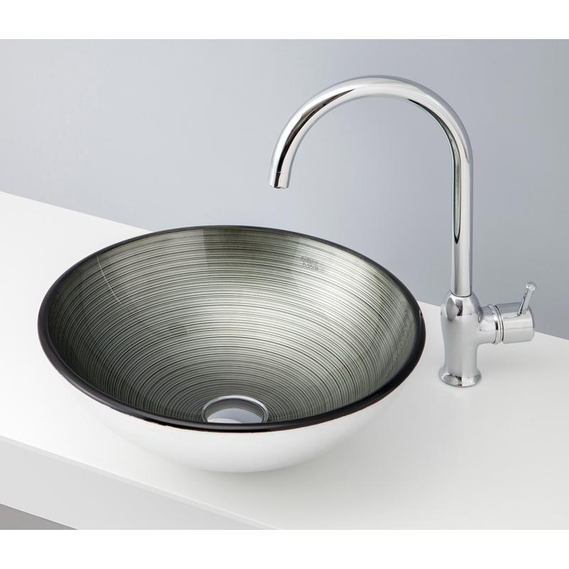 mizunohana 置き型洗面ボウル METALLIC GLASS メタリックガラス08 B156 手洗い器 デザイン 陶磁器 インテリア おしゃれ かわいい シンプル モダン カラフル