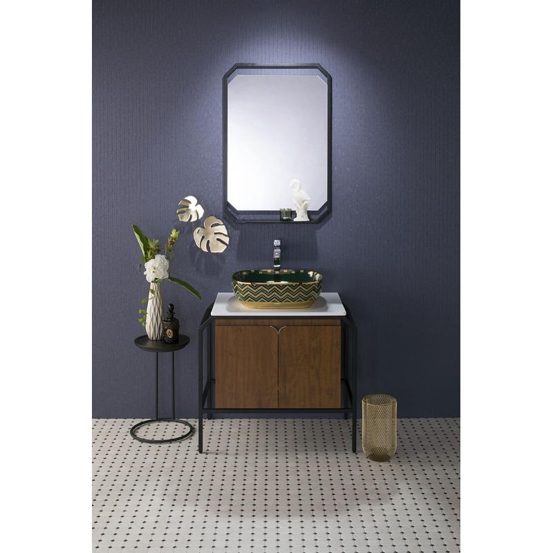 mizunohana 洗面キャビネット ミラー+洗面キャビネットセット C018 カラフル モダン シンプル おしゃれ デザイン 鏡 洗面台 パウダールーム