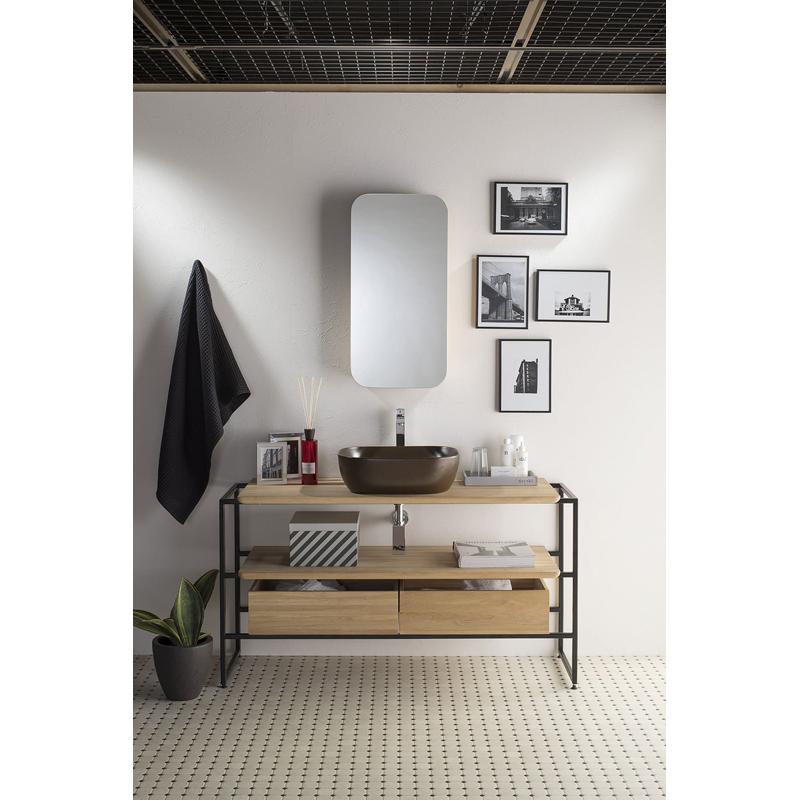 mizunohana 洗面キャビネット ミラー+洗面キャビネットセット イタリア製 C065 カラフル モダン シンプル おしゃれ デザイン 鏡 洗面台 パウダールーム