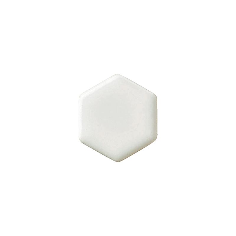 タイル建材 SERIE BIANCA(セリエビアンカ) 19六角形紙貼り 30シート 名古屋モザイク 内装 壁 インテリア