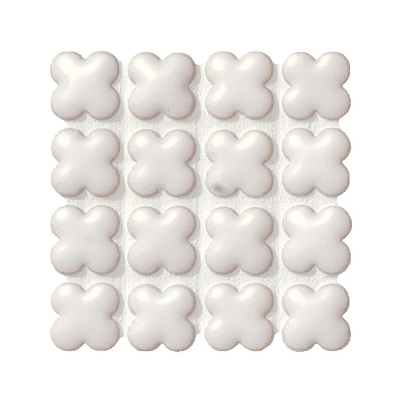 タイル建材 SERIE BIANCA(セリエビアンカ) 15花形紙貼り 10シート 名古屋モザイク 内装 壁 インテリア
