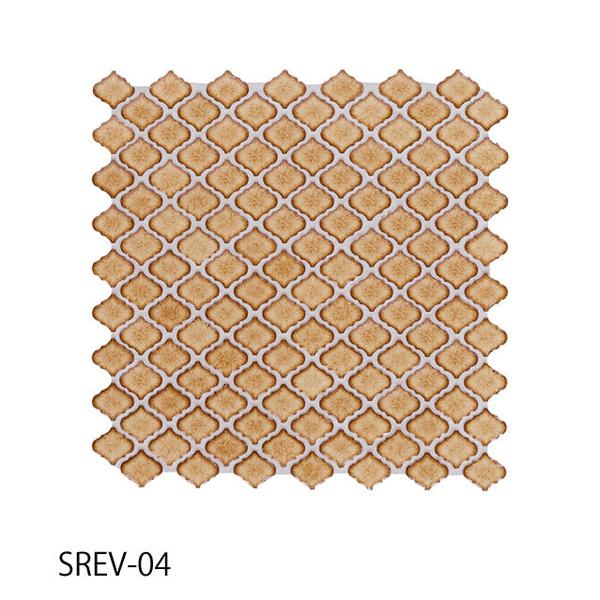 送料無料 TChic SWAN TILE タイル建材 屋内壁用 インテリアタイル コレベリ 31×28平紙張り SREV-04 ケース/22シート
