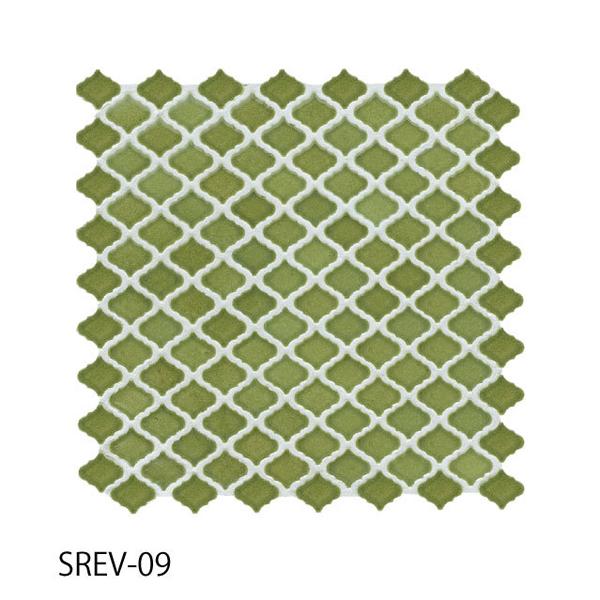 送料無料 TChic SWAN TILE タイル建材 屋内壁用 インテリアタイル コレベリ 31×28平紙張り SREV-09 ケース/22シート