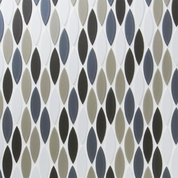 送料無料 TChic SWAN TILE タイル建材 屋内壁床用 インテリアタイル ピルエット 17×61異形紙張り 均等MIXパターン張り FP-107/C ケース/20シート