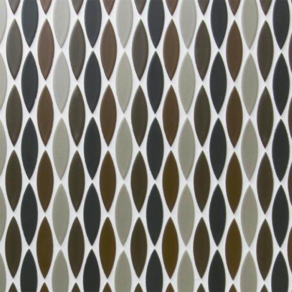 送料無料 TChic SWAN TILE タイル建材 屋内壁床用 インテリアタイル ピルエット 17×61異形紙張り 均等MIXパターン張り FP-113/C ケース/20シート
