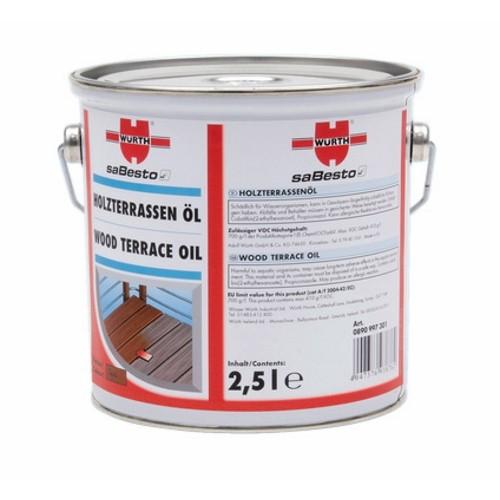 WURTH ウルト塗料 ウッドテラス用オイル バンキライ 2.5L [型番:0890997302]