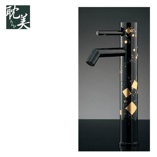 水栓金具 KAKUDAI(カクダイ) 耽美 シングルレバー立水栓 純金箔貼り 716-217-13