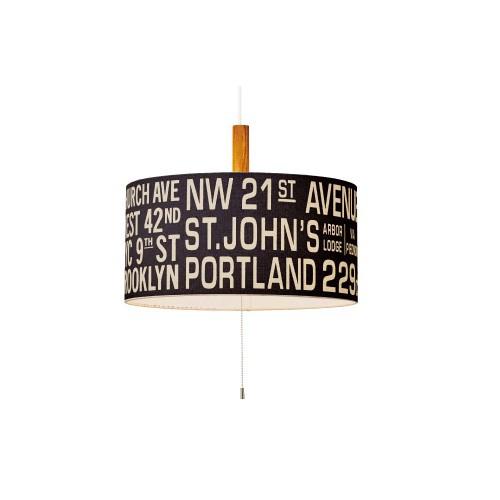 照明器具 インターフォルム インテリア ペンダントランプ Bus Roll Lamp バスロールランプ LT-1121 BK ブラック 送料無料