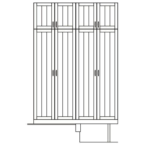 LOHAS material オリジナル無垢建具玄関収納セットプラン Plan-5 SG06-P5