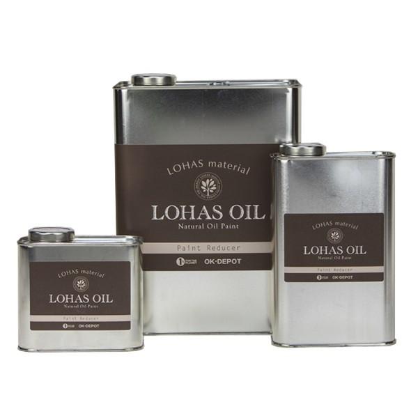 LOHAS OIL ロハスオイル 専用うすめ液 メイルオーダー 0.75L 安値 国産 内装 外装 木部 DIY 簡単 安心 メンテナンス 油性 自然素材100% 自然塗料 無色 低臭