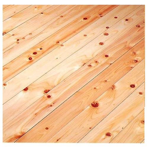床材 防音フローリング材(直貼り) LL-45相当 めちゃ静か 桧(ヒノキ) 生節 無塗装 910×90×16(9+7)mm