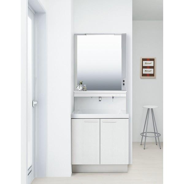 洗面化粧台 リクシル L.C. エルシィ 扉タイプ 1面鏡 LED照明 間口750 ホワイト 高級感 便利 おしゃれ シンプル 収納 送料無料