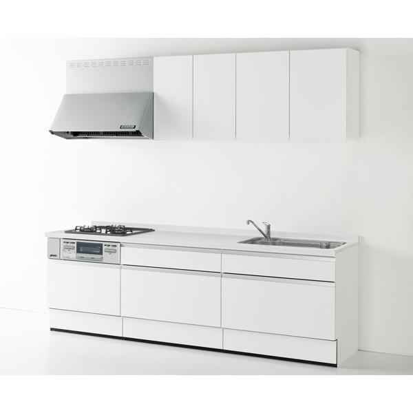 システムキッチン Housetec ハウステック カナリエ I型 スライドタイプ 収納たっぷり仕様 間口2550mm 扉A 食洗機無し 送料無料