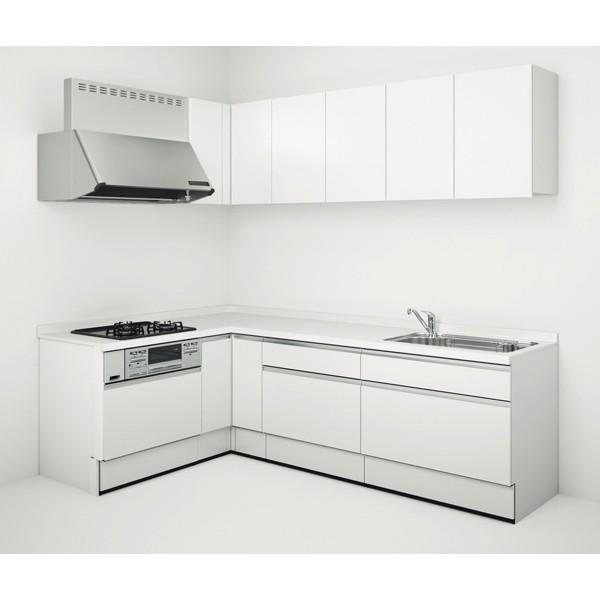 システムキッチン Housetec ハウステック カナリエ L型 スライドタイプ 間口2550mm×1650mm 扉A 食洗機無し 送料無料