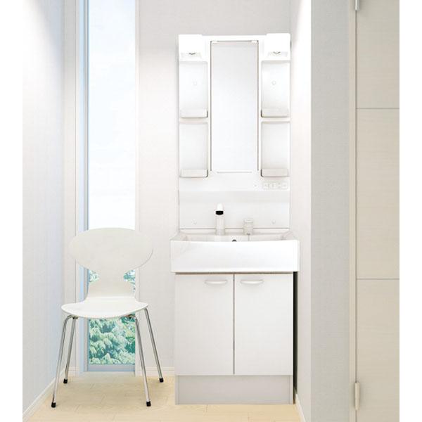 洗面化粧台 ハウステック QVシリーズ 開き扉タイプ 一面鏡 間口600 ホワイト 白 節湯 お手入れ簡単 使い勝手 ドレッサー 送料無料