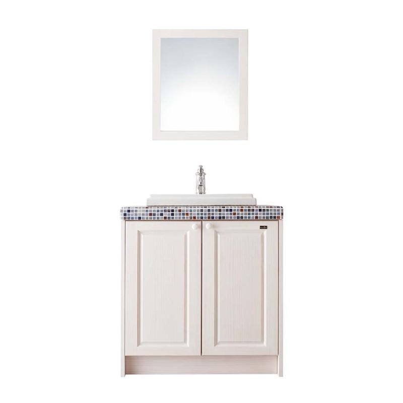WOODONE ウッドワン 洗面化粧台 無垢の木の洗面台 NZ50 ホワイト色 間口775mm 両開き仕様 タイル 人造大理石 カウンター パイン