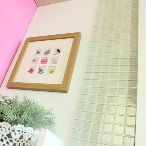 送料無料 DIY TILE モザイクタイル ガラス ホワイト がっちりシール 10シート