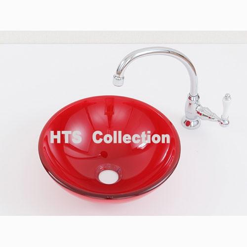 輸入洗面ボウル ガラスタイプ HTS Collection FL-09 洗面化粧台 送料無料 個性的 デザイン性