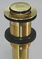 洗面ボウル HTS Collection専用 排水金具 通常タイプ プッシュ式オーバーフロー無ブラス 送料無料