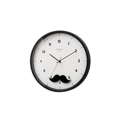 INTERFORM 壁掛け時計 Mustache Pendulum(マスタッシュペンデュラム) CL-2583 BK 雑貨 インテリア おしゃれ ウォールクロック インターフォルム スタンダード