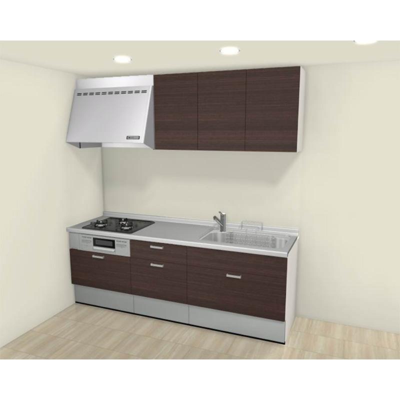 LIXIL リクシル システムキッチン Shiera(シエラ) 壁付けタイプ I型 間口2250mm スライドストッカープラン 扉グループ1 標準セット