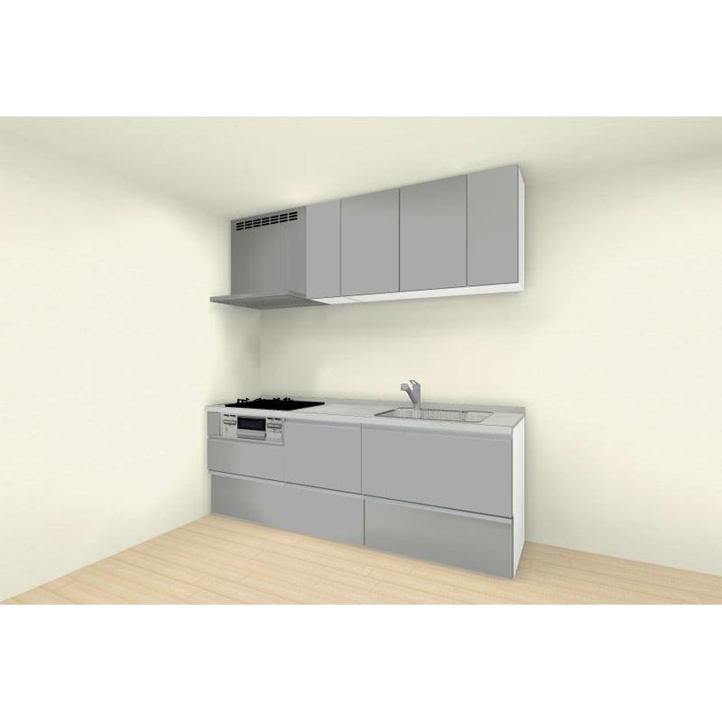 クリナップ システムキッチン rakuera(ラクエラ) 壁付けタイプ I型 間口2250mm おすすめプラン コンフォートシリーズ 標準セット