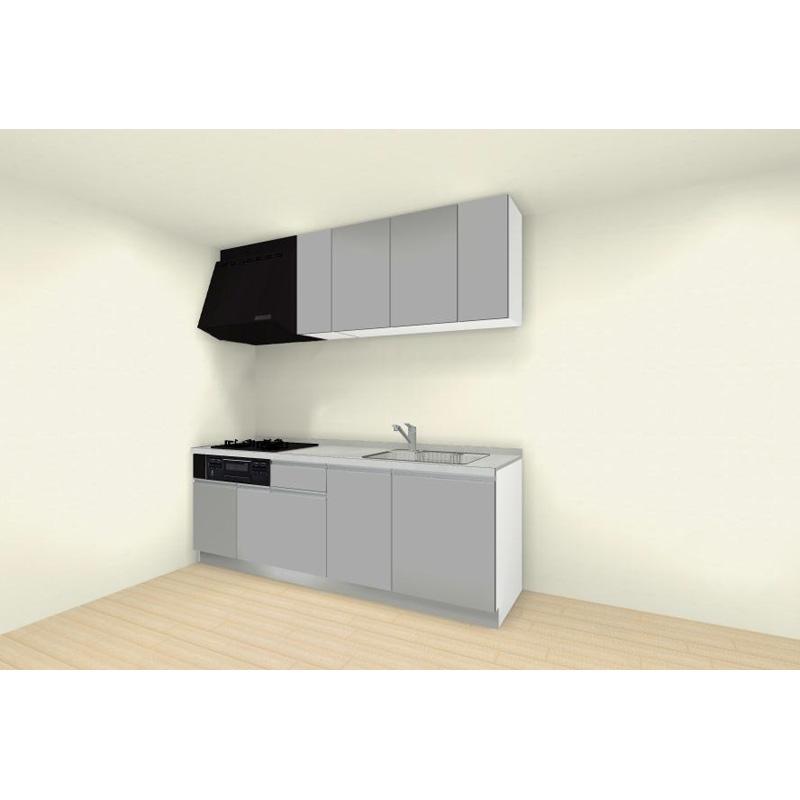 クリナップ システムキッチン rakuera(ラクエラ) 壁付けタイプ I型 間口2250mm 開き扉プラン コンフォートシリーズ 標準セット